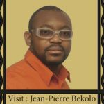 Poster with Image of Jean-Pierre Bekolo