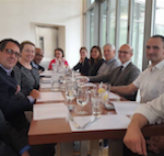 Members of the CIFS steering committee have lunch with the French Consul