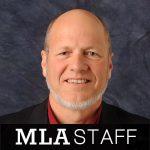 "Image of Dennis Looney with caption ""MLA Staff"""