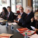 Gilles Bousquet meeting with delegates from AMU
