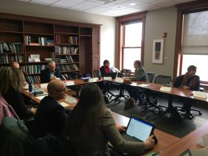 Members of MMSD, the community and the university meet at the Education Building at UW-Madison in February 2020